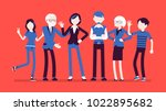 family members together.... | Shutterstock .eps vector #1022895682