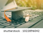 online learning or e learning... | Shutterstock . vector #1022896042
