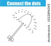 connect the dots children... | Shutterstock .eps vector #1022896345