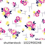 bouquet roses pattern elegance... | Shutterstock .eps vector #1022900248