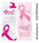 a set of pink breast cancer... | Shutterstock .eps vector #1022902666