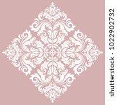 oriental vector square white... | Shutterstock .eps vector #1022902732