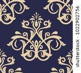 classic seamless vector golden... | Shutterstock .eps vector #1022902756
