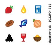 food colorful flat design icons ... | Shutterstock .eps vector #1022904916