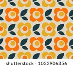 seamless retro pattern with... | Shutterstock .eps vector #1022906356