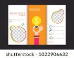 trifold business brochure... | Shutterstock .eps vector #1022906632