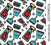 vector seamless pattern of... | Shutterstock .eps vector #1022908126