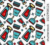 vector seamless pattern of... | Shutterstock .eps vector #1022908126
