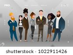 Main Page Business Design with Cartoon Character for Web Site | Shutterstock vector #1022911426