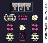 lucky seven jackpot. casino... | Shutterstock .eps vector #1022920516