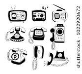 Set Of Hand Drawn Vector Phone...