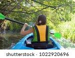 Family Kayaking  Child Paddlin...