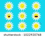 white daisy chamomile icon...   Shutterstock .eps vector #1022920768