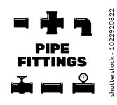 pipe fittings vector icons set. ... | Shutterstock .eps vector #1022920822