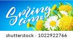 inscription spring time on... | Shutterstock .eps vector #1022922766
