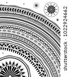 tribal themed pattern with ... | Shutterstock .eps vector #1022924662
