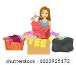illustration of a teen girl... | Shutterstock .eps vector #1022925172