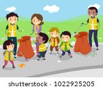 illustration of stickman kids... | Shutterstock .eps vector #1022925205