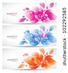 set of three banners  abstract... | Shutterstock .eps vector #102292585