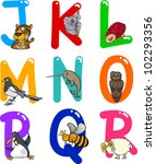cartoon colorful alphabet set... | Shutterstock .eps vector #102293356