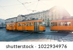 trams passing in vittorio... | Shutterstock . vector #1022934976