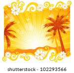 summer vector background | Shutterstock .eps vector #102293566
