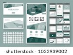 website template  one page... | Shutterstock .eps vector #1022939002