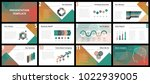 business presentation templates.... | Shutterstock .eps vector #1022939005