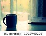 concept of tidy working desk... | Shutterstock . vector #1022940208