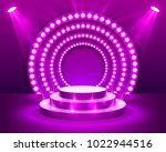 stage podium with lighting ... | Shutterstock .eps vector #1022944516