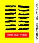 vector brush strokes set. paint ... | Shutterstock .eps vector #1022946646