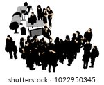 business people in office with... | Shutterstock . vector #1022950345