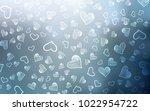 light blue vector pattern with... | Shutterstock .eps vector #1022954722