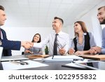 team of specialists engaged in... | Shutterstock . vector #1022955832