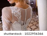 beautiful bride in hall | Shutterstock . vector #1022956366