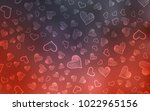 dark red vector pattern with... | Shutterstock .eps vector #1022965156