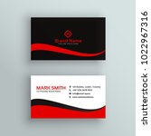 modern red and black business... | Shutterstock .eps vector #1022967316