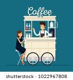 creative detailed vector street ... | Shutterstock .eps vector #1022967808