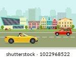 city street panoramic. city... | Shutterstock .eps vector #1022968522
