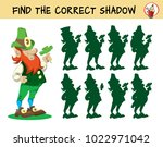 leprechaun. find the correct... | Shutterstock .eps vector #1022971042