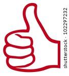 vector hand showing thumbs up | Shutterstock .eps vector #102297232