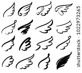 wings icon sketch collection...
