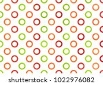 watercolor red  green and... | Shutterstock . vector #1022976082