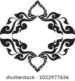 swirl tribal doodle heart with... | Shutterstock .eps vector #1022977636