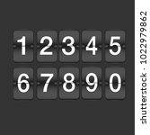set of ten numbers | Shutterstock .eps vector #1022979862