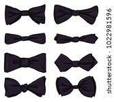 vector set of black cartoon... | Shutterstock .eps vector #1022981596