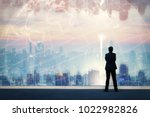 vision concept. successful... | Shutterstock . vector #1022982826