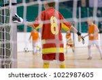 football futsal training for... | Shutterstock . vector #1022987605