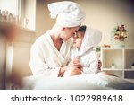 mother and daughter love is... | Shutterstock . vector #1022989618