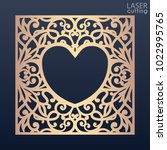 a square panel with lace... | Shutterstock .eps vector #1022995765